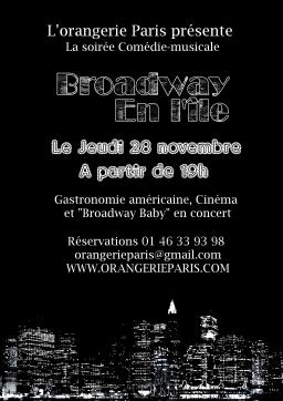 Affiche Broadway en l'île