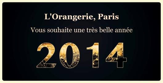 L'Orangerie vous souhaite une très belle année 2014