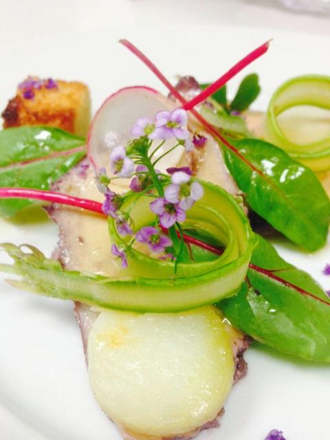 Foie gras poché détail