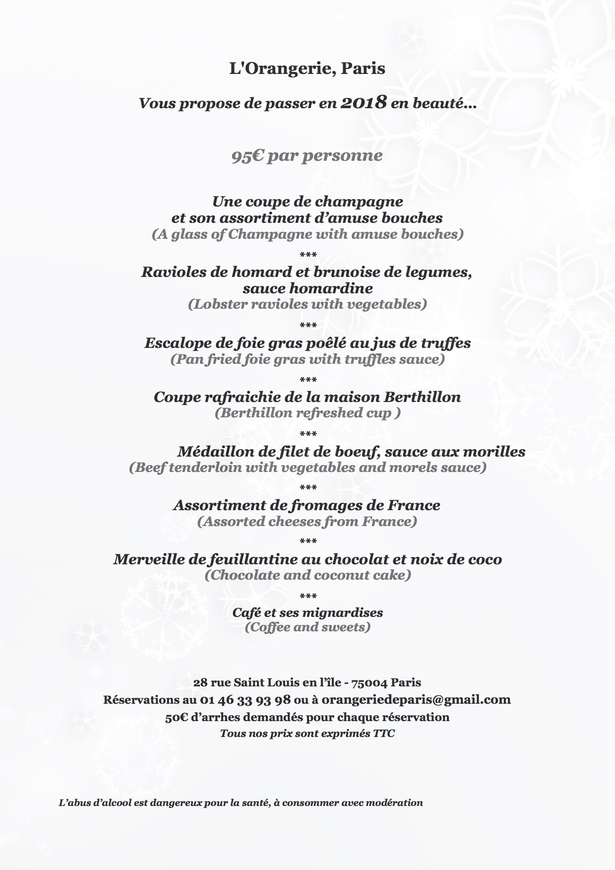 Orangerie menu nouvel an 2018 - copie